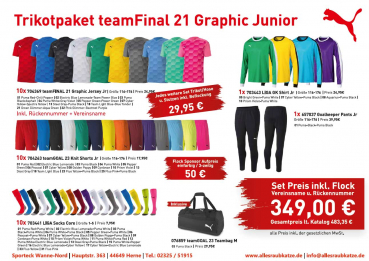 Puma Trikotsatz | Trikotpaket teamFinal 21 Graphic Junior