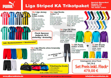 Liga Striped KA Trikotpaket 2018