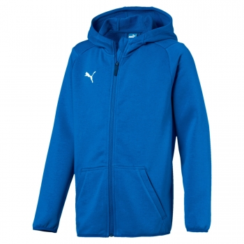 Puma Liga Casual Hoody Jacke electric blue lemonade