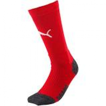 Puma Liga Training Crew Socks rot weiß