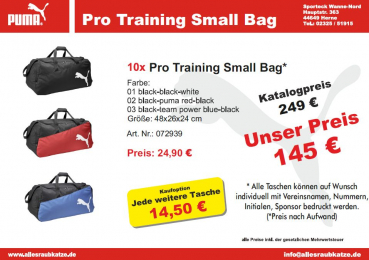 Puma Taschenpaket Pro Training Small Bag