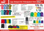 Puma LIGA Striped Trikot Paket Kinder